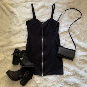 Divided Zipper Dress